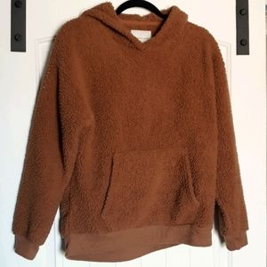 AE sherpa oversized cozy hoodie